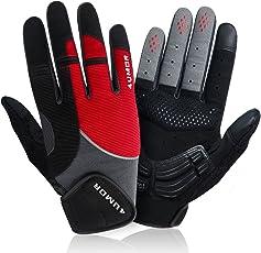 4UMOR Fahrradhandschuhe, Radsporthandschuhe Mountainbike Handschuhe geeiget für Rennrad, Mountainbike, Reiten,Radsport MTB Road Race, Herren und Damen