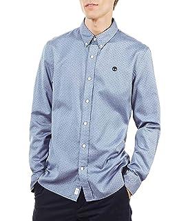 Timberland LS Snck RV Strt Camicia Uomo a Quadri Blu: Amazon