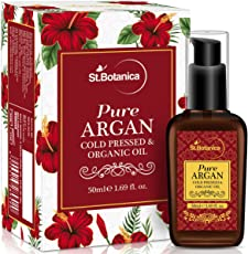 StBotanica Organic Pure Argan Oil, 50ml (For Hair & Skin) - USDA Certified Ingredient Imported from Morocco