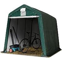 TOOLPORT 2,4 x 3,6 m Garage, abri de Stockage, PE env. 260 g/m², Tente Garage Vert foncé
