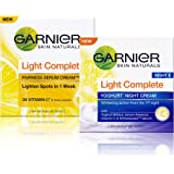 Garnier Skin Naturals Light Complete Serum Cream & Night Cream, 85 g (Pack of 2)
