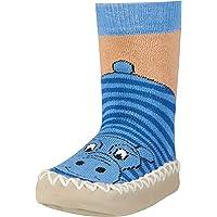 Playshoes Scarpe A Calzino Con Suola Antiscivolo - Ippopotamo Pantofole Bambino