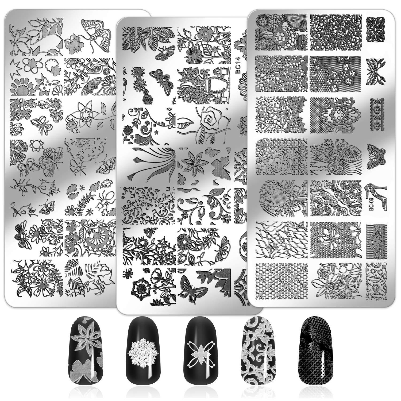 Mwoot 6pcs Nail Art Stamping Plantillas Para Uñasplacas Estampacion Uñas Para Manicura