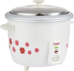 Prestige PRWO 1.8-2 Delight Electric Rice Cooker PRWO 1.8-2 (700 watts) with 2 aluminium cooking pans