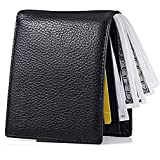 Men's Wallet, Ultra Slim Bifold Leather Wallet with Money Clip Protection Currency Pockets for ID Card, Credit Card, Business