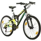 BIKE SPORT LIVE ACTIVE Parallax 24 Zoll Junge Mädchen Fahrrad MTB Mountainbike Fully Full Suspension Shimano 18 Gang