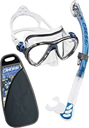 Cressi Big Eyes Evolution & Alpha Ultra Dry - Premium Kits de Randonnée Aquatique_Plongée pour Adulte