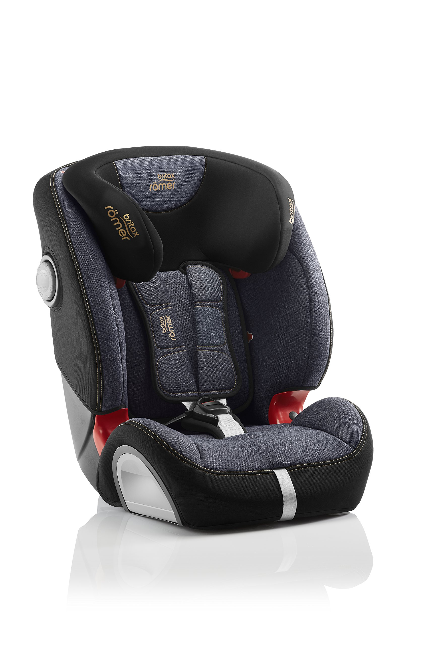 Britax Römer EVOLVA 1-2-3 SL SICT Group 1-2-3 (9-36kg) Car Seat - Blue Marble  This EVOLVA 1-2-3 SL SICT will come in a Blue Marble design cover which is made from a more premium fabric with extra detailing Enhanced Side Impact Protection (SICT) minimises the force of an impact in a side collision CLICK & SAFE audible harness system for that extra reassurance when securing your child in the seat 3