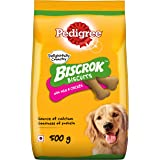 Pedigree Biscrok Biscuits Dog Treat (Above 4 Months), Milk and Chicken Flavor, 500g Pack