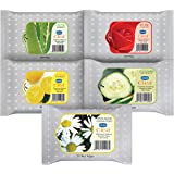 GINNI CLEA Cleansing & Makeup Remover Wipes Wet Wipes for Face Moisturizing - Rose, Lemon, Aloevera, Cucumber, Antiacne…
