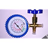 Single Gauge Manifold Pressure -30 to 250psi Compatible with R22, R12, R502