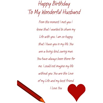 Husband Birthday Card Amazoncouk Office Products