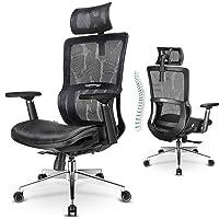 MFAVOUR Chaise de Bureau Fauteuil Bureau Ergonomique Siège en Maille de Haute Élasticité avec 3D Accoudoir, Dossier…