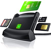 CSL - USB Chipkartenleser - SmartCard Reader - Cardreader - smart Card Reader - unterstützt Smart Cards und SIM Cards…