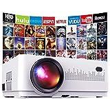 Mini Proyector Portátil en Casa,DBPOWER 6000 Lúmenes Proyector de Video Soporta Full HD 1080P,Compatible con TV Stick/Smartph