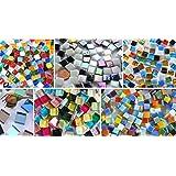 Bazare Masud e.K. Kennenlernmix: 560 St. Mosaiksteine Bastelmix aus 6 versch. Art. alle 1x1cm ca. 410g