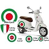 GamesMonkey Adhesivos Stickers Vespa Set Piaggio Vespa Banderas Italia Rueda