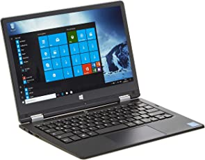 iOTA 360 29,46cm (11,6 Zoll HD) Touch Laptop (Intel Atom Z8350, 2 GB RAM, 32 GB Speicher, Touchscreen, Deutsche Tastatur, Win 10) schwarz