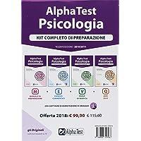 Alpha Test  Psicologia  Kit completo di preparazione  Manuale di preparazione Esercizi commentati Prove di verifica 6000 quiz  Con software