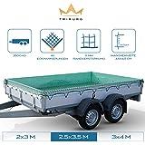 TRIBURG® aanhangernet 2,5 x 3,5 cm, met hoekmarkeringen, hangnet met spanrubber voor optimale vaststelling van de lading - aa