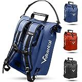 Valkental - 3in1 Fahrradtasche - Geeignet als Gepäckträgertasche, Rucksack und Umhängetasche - Wasserdicht & Reflektierend -