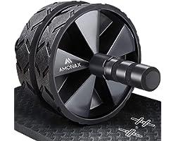 Amonax Roue Abdominale Convertible, Ab Roller Wheel, Roulette Abdominaux Exercice pour Abdominaux, Roue de Fitness pour Muscu