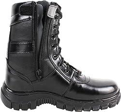 SSG Men's High Ankle Zipper Commando Leather Boots
