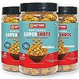 Sattviko Gur Chana Supershots, 3x90 gm | Healthy Snacks | Food items snacks | Kids Food | Gluten Free | Non GMO | Foodyoga