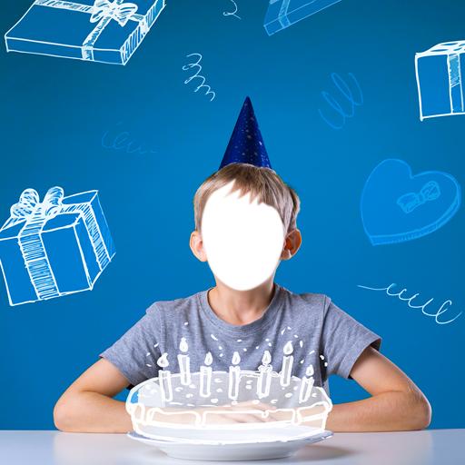 Geburtstags-Foto-Montage