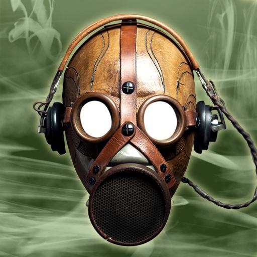 Gasmaske-Foto-Montage - Chemische Gesicht