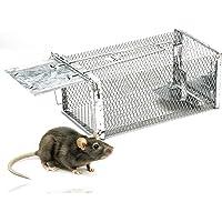TK Gruppe Timo Klingler Mausefalle lebend - 29 cm Käfigfalle wiederverwendbar & lebend - Falle für Maus & Ratte…