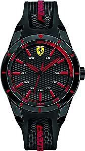 Scuderia Ferrari Orologio Analogico Quarzo Uomo con Cinturino in Silicone 840004