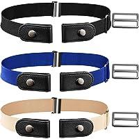 CNNIK 3 pezzi cintura elasticizzata senza fibbia con fibbie extra per donna e uomo, cintura elastica in vita fino a 78…