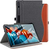 ZtotopCase Case for Samsung Galaxy Tab S7 11 Inch 2020, Premium PU Leather Folio Case Cover,Multi-angle,with Pocket and Auto