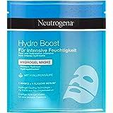 Neutrogena Hydro Boost Gesichtsmaske, Tuchmaske Hydrogel mit Hyaluron, kühlend, auch für sensible Haut, 30ml