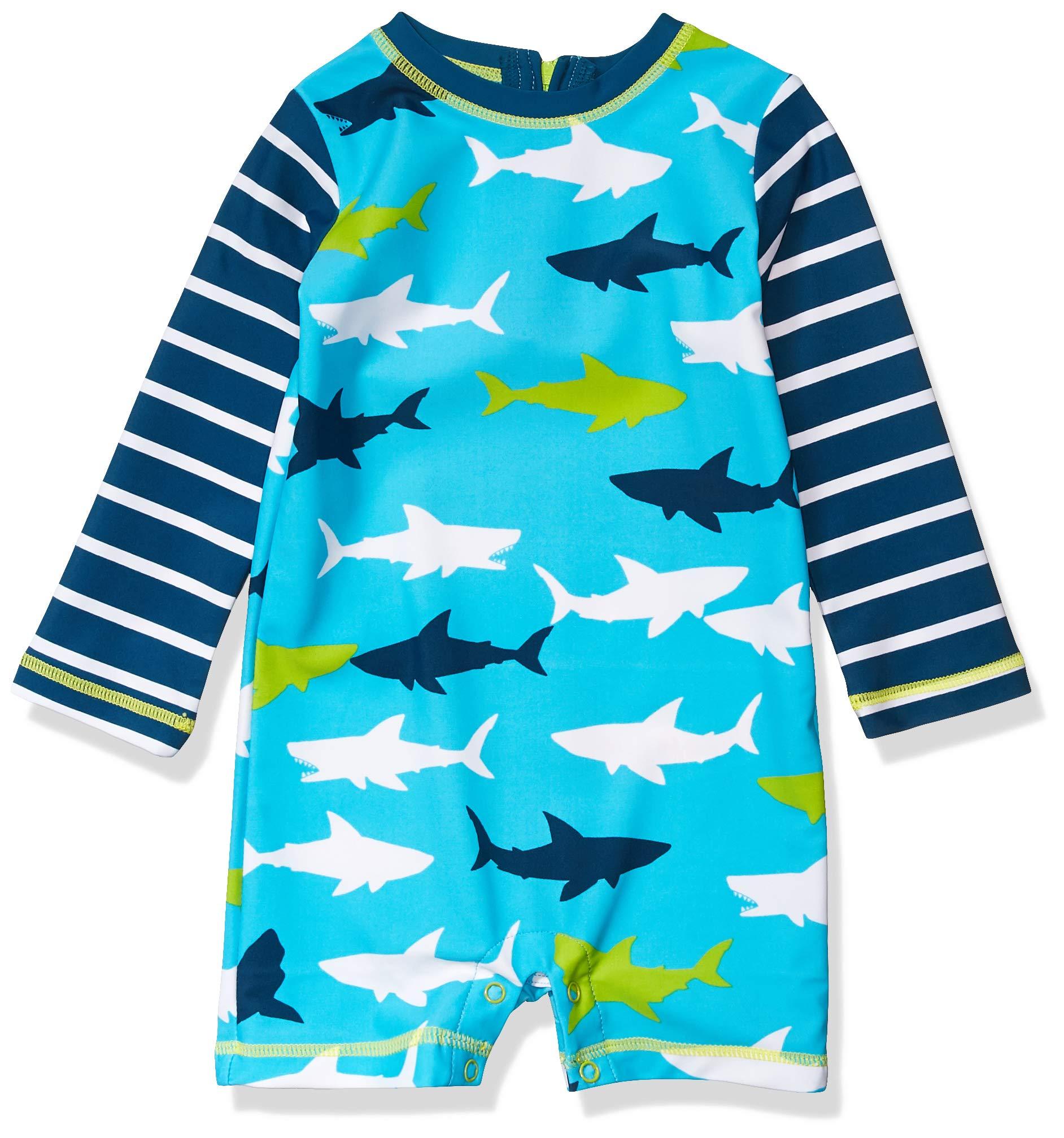 Hatley One Piece Rash Guard Swimsuits Traje de baño de una Pieza para Bebés 1