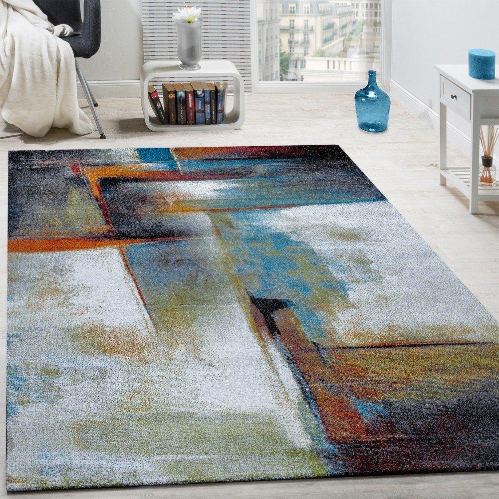 Designer Teppich Modern Kurzflor Wohnzimmer Bunt Trendig Meliert Multicolour Grsse120x170 Cm Amazonde Kche Haushalt
