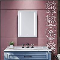 SIRHONA Miroir de Salle de Bains 700 x 500 x 35mm - Miroirs cosmétiques muraux - Miroir avec LED Illumination - Anti…