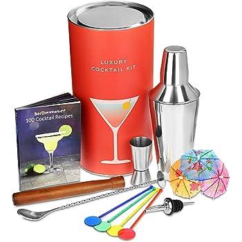 luxus drink zubeh r cocktail kit von bar drinkstuff cocktail geschenkset mit manhattan. Black Bedroom Furniture Sets. Home Design Ideas