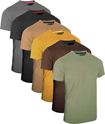 FULL TIME SPORTS® FTS-634 Unique Blend Fabric Round Neck Tech T-Shirts