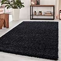 Abaseen Small Large Shaggy Modern Rug in 12 Different Colour and 4 Different Sizes (Anthracite, 60x110 cm (2'x3'7''))