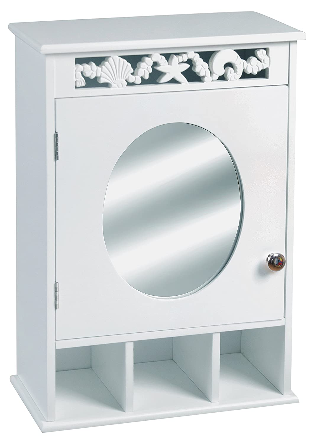 ASPECT Ellsworth Bathroom Toilet Roll Storage Cabinet, MDF, White ...