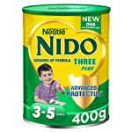 Nestlé NIDO Three Plus Growing Up Milk Powder Tin For Toddlers 3-5 Years, 400g (Pack Of 1)