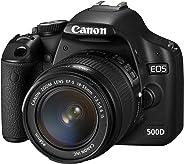 Canon 500D + EF-S 18-55mm Appareil Photo Numérique Compact 15.1 Mpix Noir (Reconditionné)