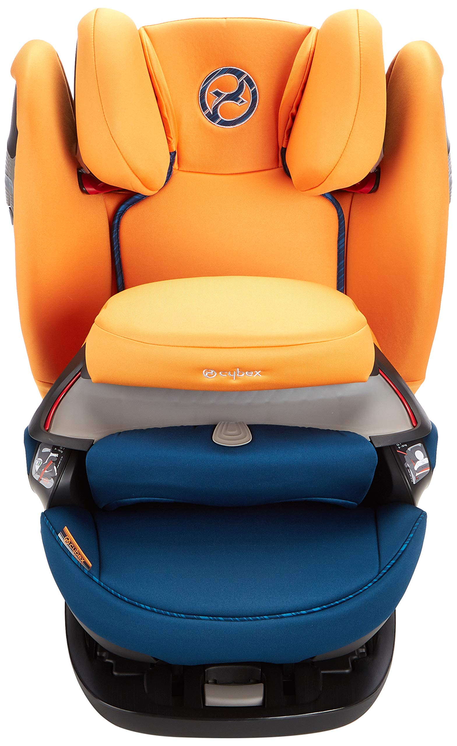 CYBEX Gold Pallas S-Fix 2-in-1 Child's Car Seat, For Cars with and without ISOFIX, Group 1/2/3 (9-36 kg), From approx. 9 Months to approx. 12 Years, Tropical Blue Cybex Sturdy and high-quality child car seat for long-term use - For children aged approx. 9 months to approx. 12 years (9-36 kg), Suitable for cars with and without ISOFIX Maximum safety - Depth-adjustable impact shield, 3-way adjustable reclining headrest, Built-in side impact protection (L.S.P. System), Energy-absorbing shell 12-way height-adjustable comfort headrest, One-hand adjustable reclining position, Easy conversion to Solution S-Fix car seat for children 3 years and older (group 2/3) by removing impact shield and base 2
