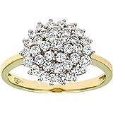 Naava Anello da Donna in Oro Giallo/Bianco 9K con Diamante