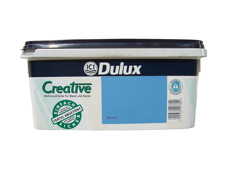 Dulux Feste Farbe dulux creative 2 5l wohnraumfarbe matt pico amazon de baumarkt