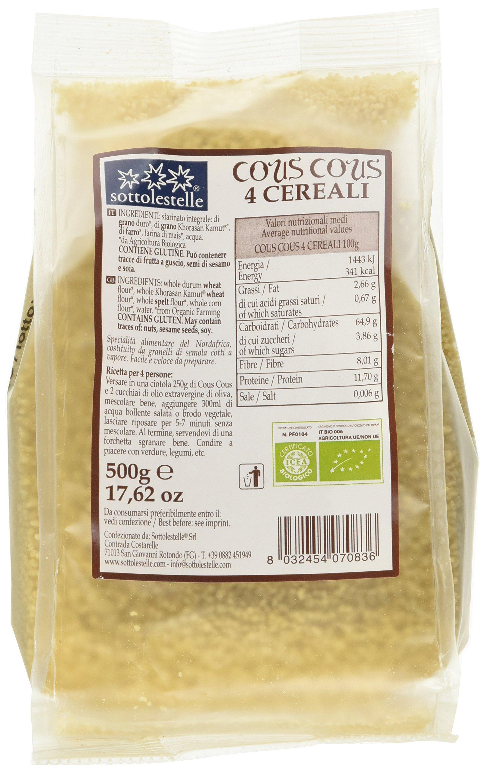 Sottolestelle Cous Cous 4 Cereali - 6 pezzi da 500 g [3 kg] 5 spesavip