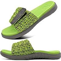 ONCAI Mens Slide Sandals Open Toe Athletic Adjustable Straps Orthotic Plantar Fasciitis Sport Sandals with Soft Cushion…