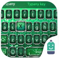 Green Glitter  Theme&Emoji Keyboard
